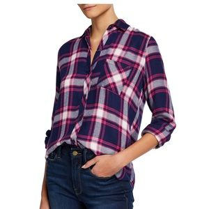 Rails Flannel Button Down in Blue and Pink